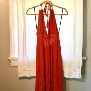 Rust Orange Maxi Dress